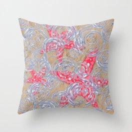Ripples on starfish Throw Pillow