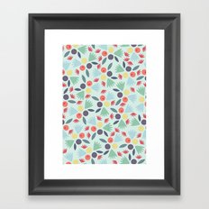 Berries & Leaves Framed Art Print