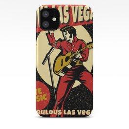 Elvis -Retro Las Vegas Poster iPhone Case