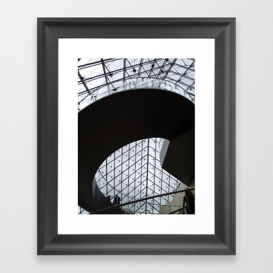 Louvre staircase Framed Art Print