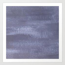 Denim Brushstroke Art Print