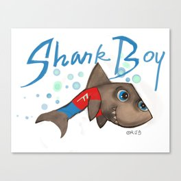 SHARK BOY Canvas Print