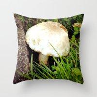 portlandia Throw Pillows featuring Fairy Toad Stool by Beth Ann Short