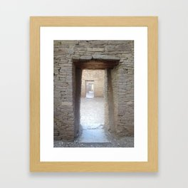 Doorways to Chaco Canyon Framed Art Print