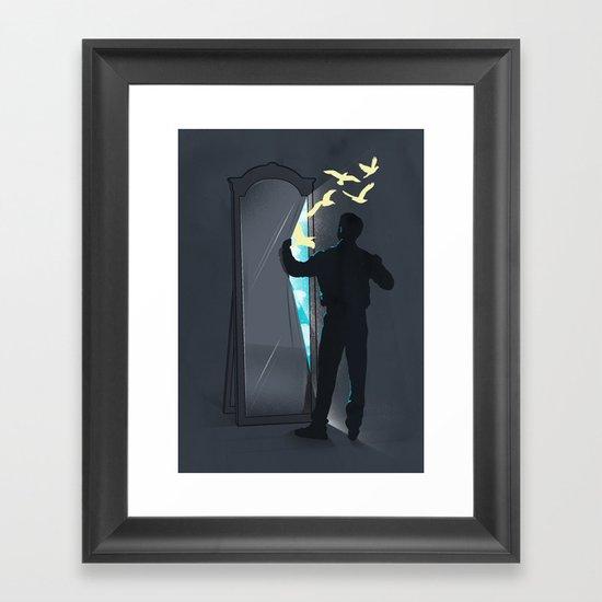 Release your inner self Framed Art Print