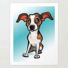 Miso (Beagle) Art Print