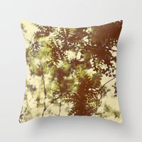 emerald Throw Pillows featuring Emerald by Alicia Bock