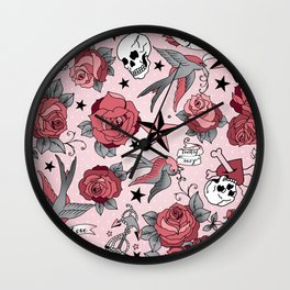 Girly Tattoo Wall Clock