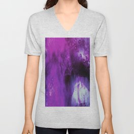 Foxglove Abstract Unisex V-Neck