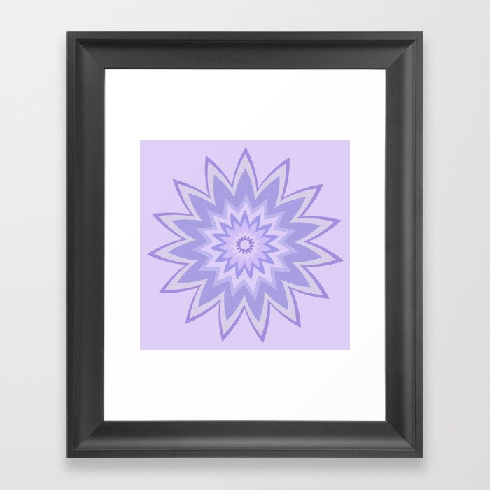 Lavender Star Flower Framed Art Print