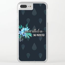 She Persisted Clear iPhone Case
