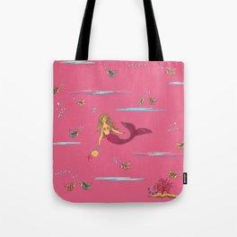 Fashionable mermaid - pink Tote Bag
