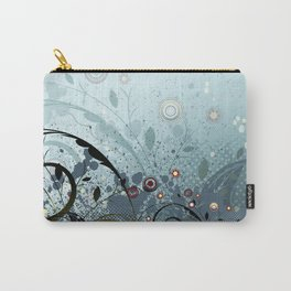 Blue Mystery Forest of Flowers and Tendrils Carry-All Pouch