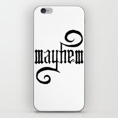 Unleash MAYHEM iPhone & iPod Skin