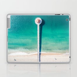 Aerial of Manhattan Beach pier Laptop & iPad Skin