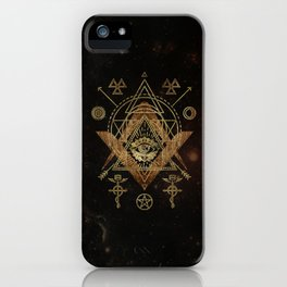 Mystical Sacred Geometry Ornament iPhone Case