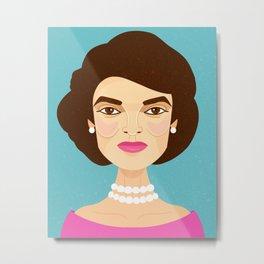Jackie Onassis Metal Print