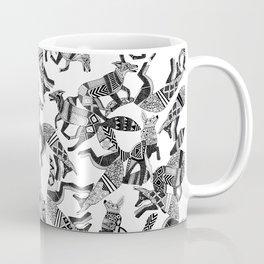 woodland fox party black white Coffee Mug