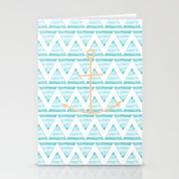 anchors Stationery Cards featuring anchors by taylor st. claire