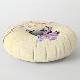 Japanese Neko Kokeshi Doll V2 Floor Pillow