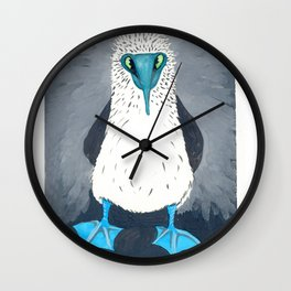 Blue Footed Booby Art Print Wall Clock