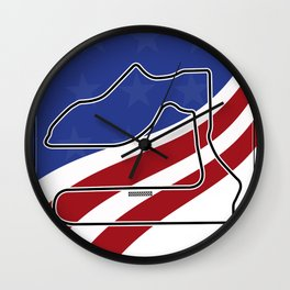 Sebring Racetrack Wall Clock