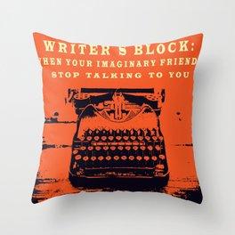 Writer´s Block Throw Pillow