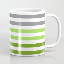 Stripes Gradient - Green Coffee Mug