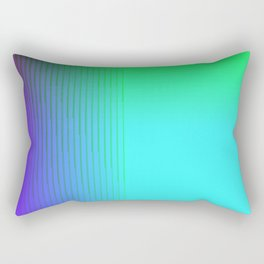 Cyan Green Purple Red Blue Black ombre rows and column texture Rectangular Pillow