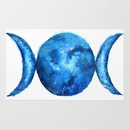 Triple Moon Goddess | Full Moon | Crescent Moon | Moon Phases Rug