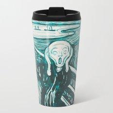 The Scream's Haze (light blue) Metal Travel Mug