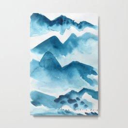 Mountain blue Metal Print