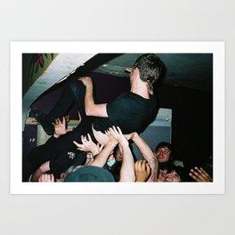 crowdsurfing at dekum manor Art Print