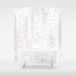'Speckle Party' Lilac + Pink Dots Speckle Terrazzo Pattern Shower Curtain
