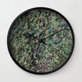 Deep into the Forest (moss, green grass) Wall Clock