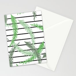 Stripes and Sprigs Stationery Cards