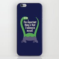 motivational iPhone & iPod Skins featuring Myth Understood by David Olenick
