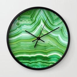 Agate crystal green Wall Clock