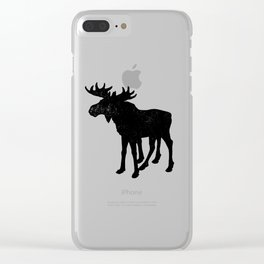 WORLD'S FASTEST MOOSE Clear iPhone Case
