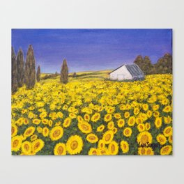 Sunfower Field Canvas Print