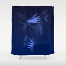 Coming Out Of The Blue Shower Curtain