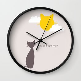 Cat Doubts Wall Clock