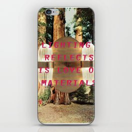 Lighting refelcts his love of materials (San Pietro Pendant and Mariposa Grove) iPhone Skin
