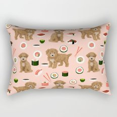 Bichpoo sushi dog breed cute pet portrait pet friendly pattern dog lover gifts Rectangular Pillow