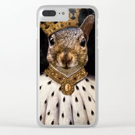 Lord Peanut (King of the Squirrels!) Clear iPhone Case