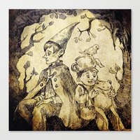 over the garden wall Canvas Prints featuring Over The Garden Wall by Tomatobird