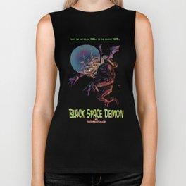 Black Space Demon Biker Tank