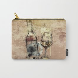 Spilt Wine Carry-All Pouch