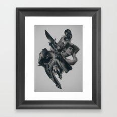 collapsing under your own gravity Framed Art Print