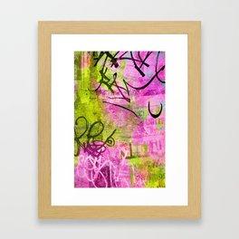 Abstract graffiti texture Framed Art Print